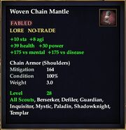 Woven Chain Mantle
