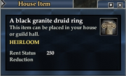 A black granite druid ring