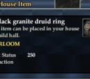 A black granite druid ring
