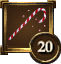 Achievement Icon red and white candycane 20