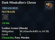Dark Windcaller's Gloves