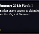 Days of Summer: 2018
