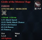 Girdle of the Mistress' Rage