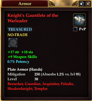 Knight's Gauntlets of the Warleader