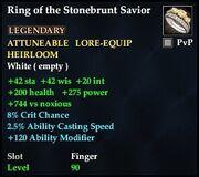 Ring of the Stonebrunt Savior