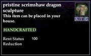 Scrimshaw Dragon Sculpture
