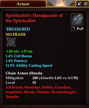Spiritualist's Handguards of the Spiritcaller