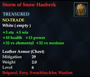 Storm of Snow Hauberk