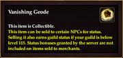Vanishing Geode