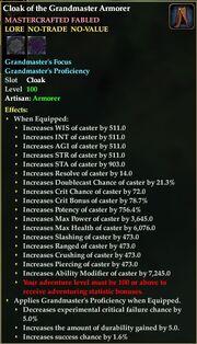 Cloak of the Grandmaster Armorer