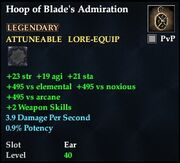 Hoop of Blade's Admiration