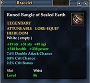 Runed Bangle of Sealed Earth