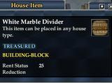 White Marble Divider
