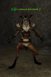 A stalwart Sabertooth