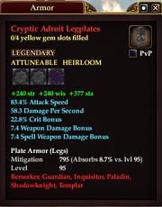 Cryptic Adroit Legplates