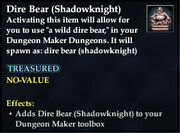 Dire Bear (Shadowknight)