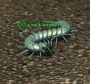 A rock writher