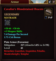 Cavalier's Bloodstained Bracers