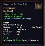 Dagger of the Final Rite