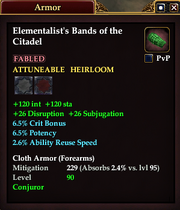 Elementalist's Bands of the Citadel