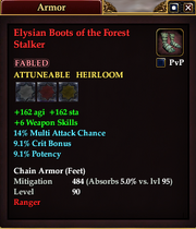 Elysian Boots of the Forest Stalker
