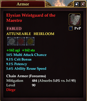Elysian Wristguard of the Maestro