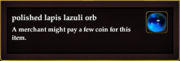 Polished lapis lazuli orb