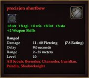 Precision shortbow