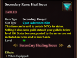 Secondary Rune: Heal Focus (Level 98) (Version 1)