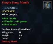Simple Snow Mantle