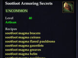 Sootfoot Armoring Secrets (Recipe Book)