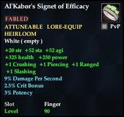 Al'Kabor's Signet of Efficacy