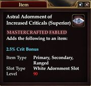 Astral Adornment of Increased Criticals (Superior)