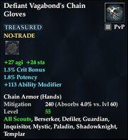 Defiant Vagabond's Chain Gloves