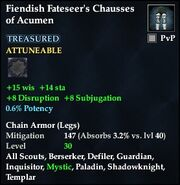 Fiendish Fateseer's Chausses of Acumen