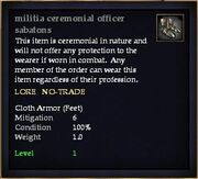 Militia ceremonial officer sabatons
