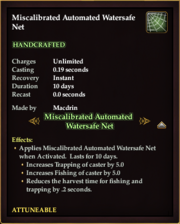 Miscalibrated Automated Watersafe Net