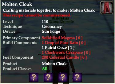 Molten Cloak | EverQuest 2 Wiki | FANDOM powered by Wikia