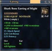 Shark Bone Earring of Might
