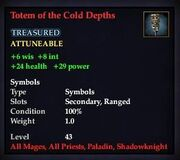 Totem of the Cold Depths
