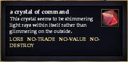 A crystal of command
