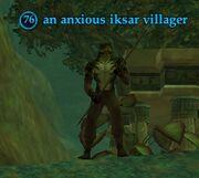 An anxious iksar villager