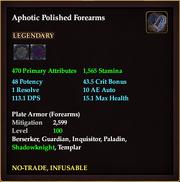 Aphotic Polished Forearms