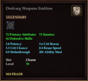 Drolvarg Weapons Emblem