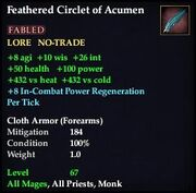 Feathered Circlet of Acumen (Version 1)