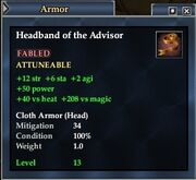 Headband of the Advisor