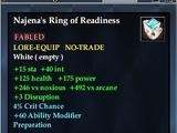 Najena's Ring of Readiness