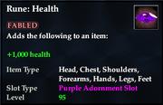 Rune- Health