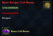 Rune Recipe- Crit Bonus