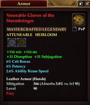 Venerable Gloves of the Stormbringer